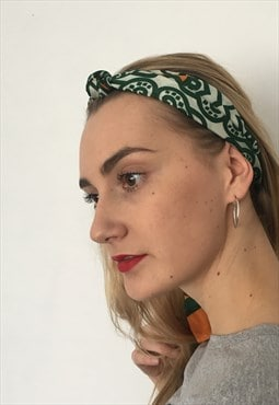 Vintage Abstract Pattern Print Head / Neck / Hair Scarf Band
