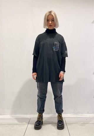 UNISEX BLACK SCREEN PRINTED T-SHIRT