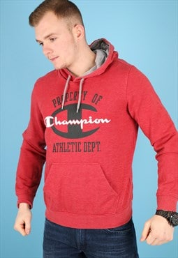 Vintage Champion Hoodie in Red NH63
