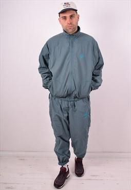 Nike Mens Vintage Full Tracksuit Large Blue 90s