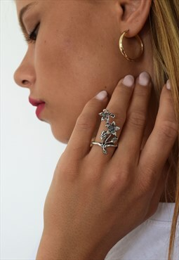 Statement Floral Ring