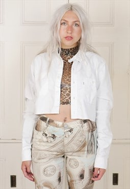 Cropped Vintage Levi Cotton Shirt