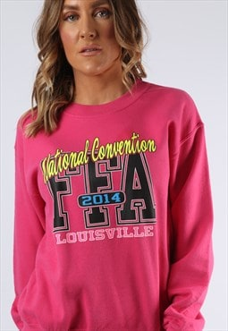Sweatshirt Jumper Print Oversized Logo UK 10 (KI4D)