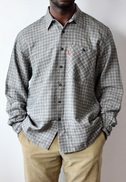 Men's Missoni Grey Checked Flannel Shirt