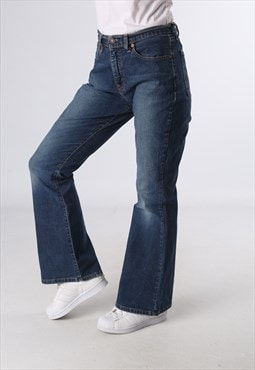 Levis 584 Denim Jeans Bootcut Flared Leg UK 12 (E9BE)