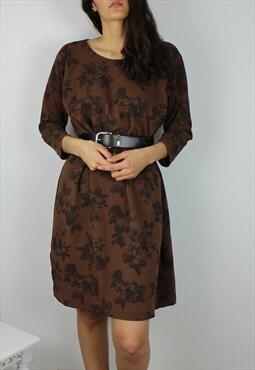 Vintage Floral Smock Tshirt Dress