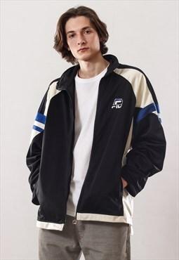 Vintage Mens FILA Logo Track Top Suit Jacket