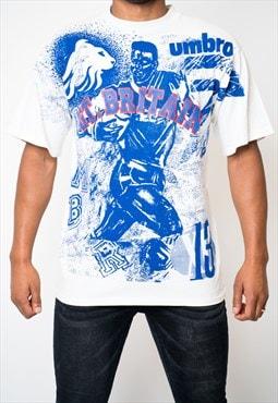 Vintage 90s Big Print Spellout Umbro T Shirt