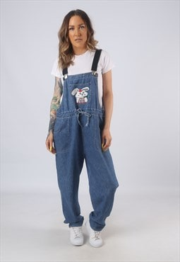 Vintage Denim Dungarees BICH REWORKED UK 16 XL (LB3A)