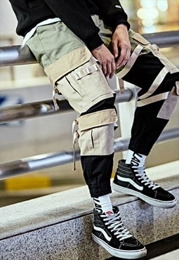 Camoflauge Patchwork Cargo Combat Utility Trousers
