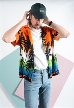 Vintage Hawaiian pattern 90s shirt