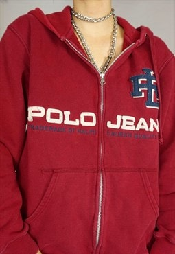 Polo Jeans Ralph Lauren Hoodie Zip up Jacket Vintage 90s 00s