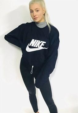 vintage NIKE oversized jumper sweatshirt cropped spellout