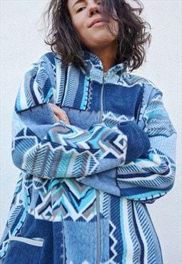 Vintage Fleece oversized zip up jacket