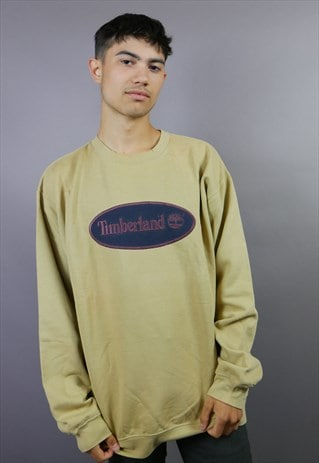 TIMBERLAND SPELL OUT SWEATSHIRT WITH EMBROIDERED LOGO