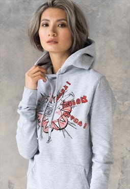 Japanese Kawaii Anime Karate Girl Hoodie Women's Hooded Top