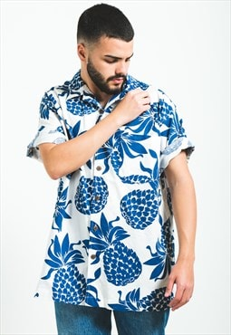 Vintage 80s Hawaiian Short Sleeve Shirt / S5914