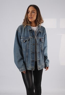 Vintage LOIS Denim Jacket Oversized Fitted UK 18 XXL (HP1Z)