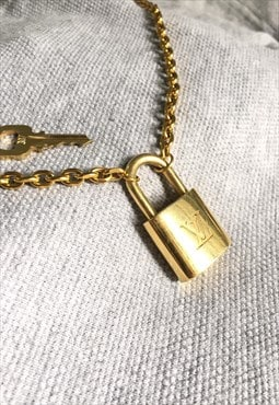 Vintage Louis Vuitton Padlock with Rolo chain