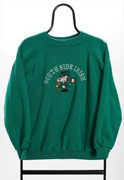 Vintage 90s Green Snoopy Irish Sweatshirt