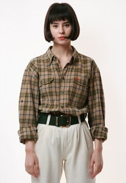 90s Vintage FJALL RAVEN Checkered Shirt 17251