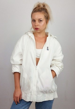 BOAST VINTAGE 90'S UNISEX SHELL TENNIS JACKET / WINDBREAKER
