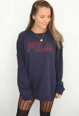 90's FILA Embroidered Logo Vintage Sweatshirt/Jumper