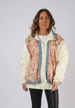 Shell Bomber Jacket Patterned Oversized Print UK 16  (KCA)