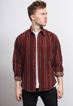 Vintage Corduroy Cord Striped Shirt
