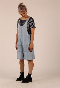 90s Pinafore denim playsuit