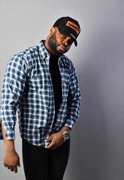 Blue Check Flannel Shirt CS2408