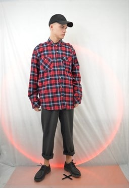 Vintage checkered flannel shirt