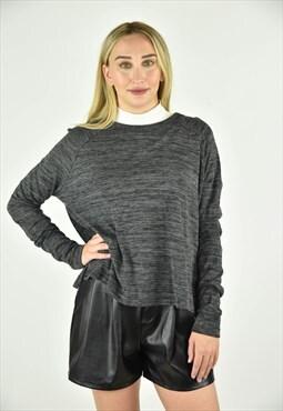 Vintage 90's Rag & Bone Grey Crewneck Sweater Size MED