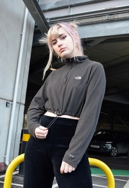 Vintage The North Face Reworked Cropped Toggle Sweatshirt