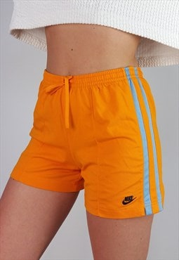 Vintage 90's Y2K NIKE Shorts Orange Blue Stripe Logo