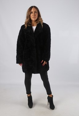 Vintage Faux Fur Coat Jacket Short Mid UK 20 3XL (H4H)