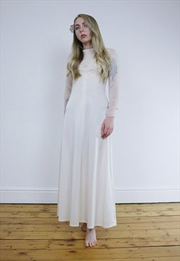 Vintage 1930's Handmade Off-White Wedding Dress