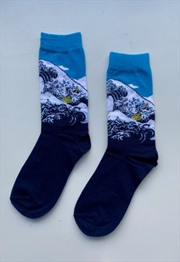 Art socks - The Great Wave