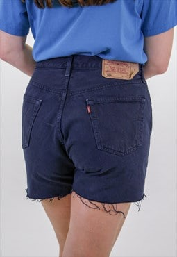 Vintage Dark Blue Levi's Shorts 501s