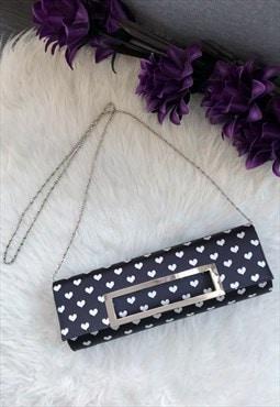 Black Hearts Clutch Bag