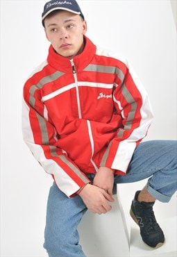 Vintage windbreaker lined jacket in red