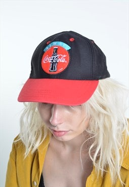 Vintage Coca Cola Baseball Cap Hat Black
