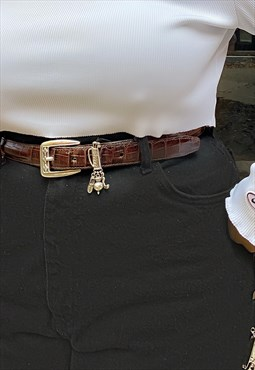 Vintage Brown Brighton Leather Belt
