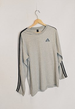 Vintage Adidas Grey Classic Long Sleeve Top
