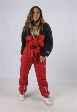 Vintage SORRY Full Ski Suit Snow Sports UK 12 - 14 (K2W)