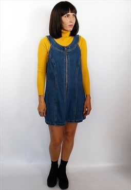 Vintage 90's zip up denim dress
