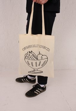 Goose Studios organic cotton tote bag with printed logo