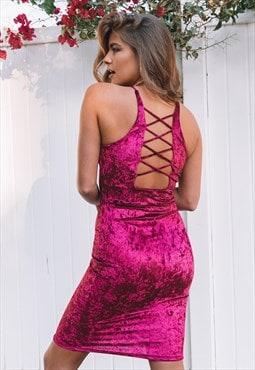 Foothill Velvet Velour Dress