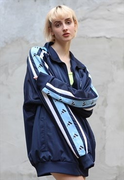 Vintage 90's Adidas Oversize Tracksuit Top in Blue