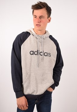 Vintage Adidas Hoodie Jumper Grey